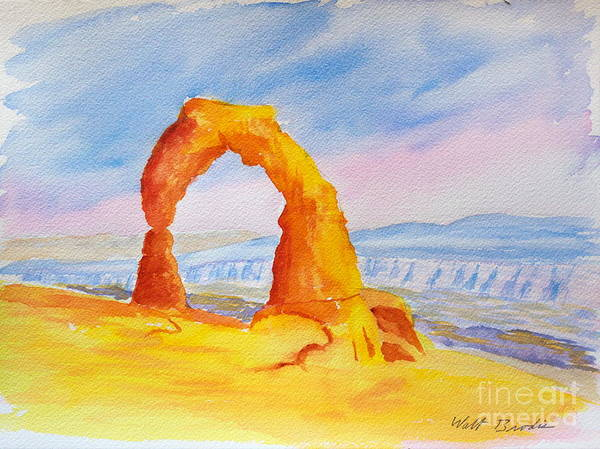 Painting - Delicate Arch by Walt Brodis