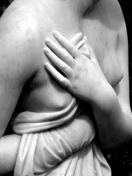 Photograph - Delicate Breast And Hand by Jeff Lowe