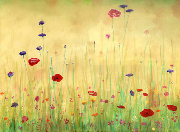 Wall Art - Painting - Delicate Poppies by Cecilia Brendel