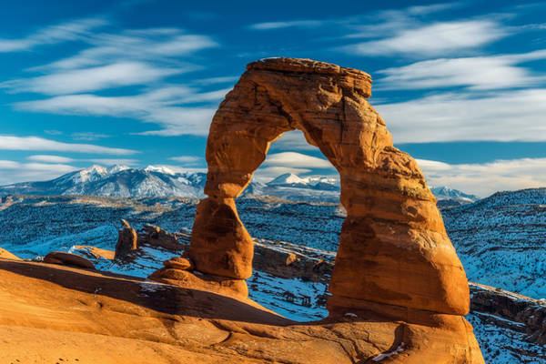 Delicate Arch Wall Art - Photograph - Delicately Divine by Guy Schmickle