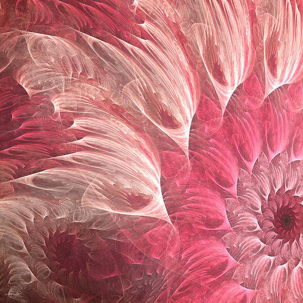 Pink And White Digital Art - Delicately by Lourry Legarde
