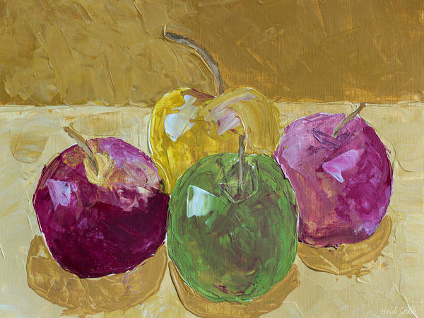 Blending Painting - Delicious Apples by Heidi Smith
