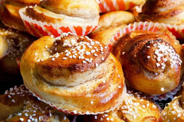 Cinnamon Buns Photograph - Delicious by Kennerth and Birgitta Kullman