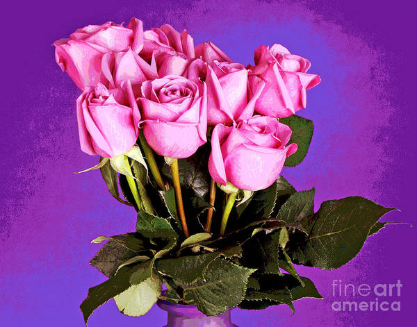 Photograph - Delightful Pink Roses by Larry Oskin