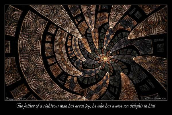 Digital Art - Delights In Him by Missy Gainer