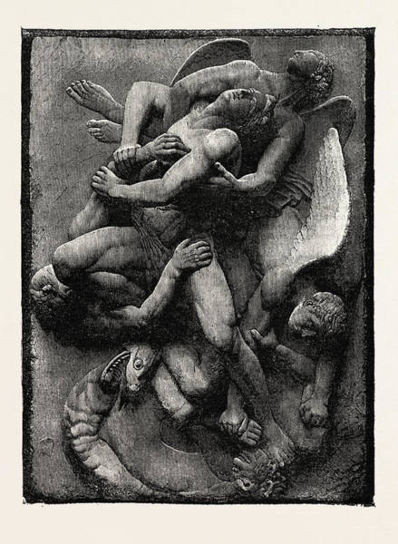 Wall Art - Drawing - Deliver Us From Evil, From The Lyra Germanica by English School