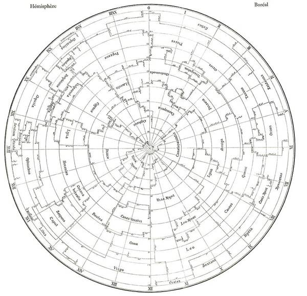 Wall Art - Photograph - Delporte Northern Constellations Map by Royal Astronomical Society/science Photo Library