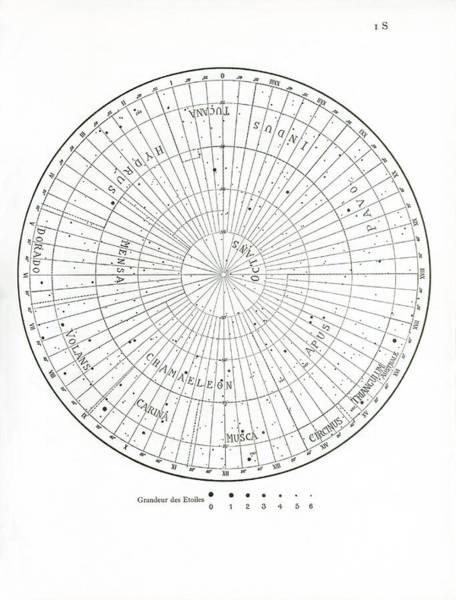 Wall Art - Photograph - Delporte South Pole Constellations Map by Royal Astronomical Society/science Photo Library