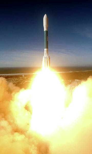 Military Air Base Photograph - Delta II Launching Nro L-21 by Stonecypher, U.s. Air Force/science Photo Library