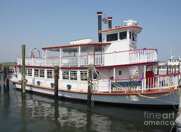 Wall Art - Photograph - Delta Lady Riverboat Out Of Captree by John Telfer