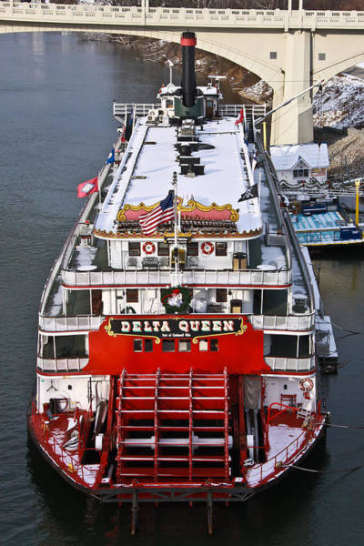 Photograph - Delta Queen In Christmas Snow by Tom and Pat Cory
