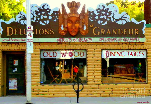 Painting - Delusions Of Grandeur Bank St Furniture Art Store On The Glebe Paintings Of Ottawa Scenes C Spandau by Carole Spandau