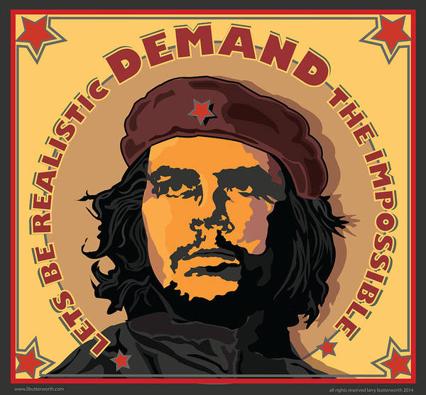 Wall Art - Digital Art - Che Guevera Revolutionary Icon by Larry Butterworth