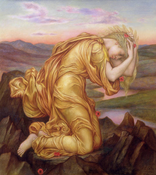 Abduction Painting - Demeter Mourning For Persephone by Evelyn De Morgan