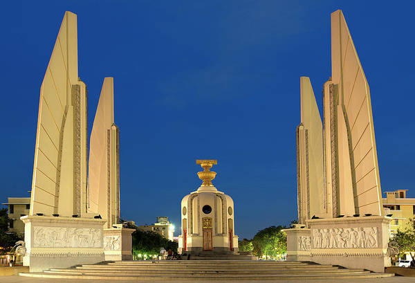 Democracy Photograph - Democracy Monument In The Evening by Andrew Tb Tan