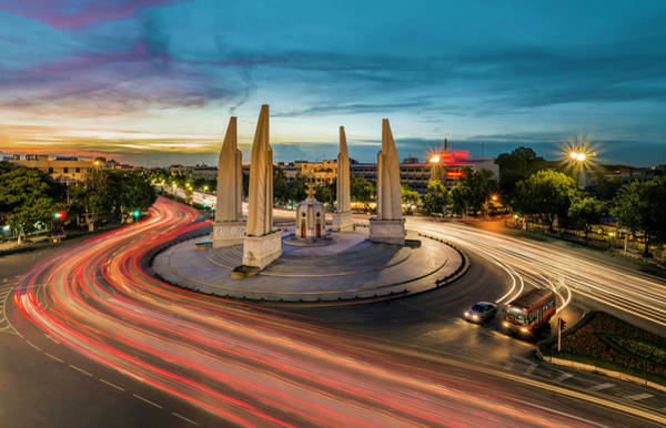 Democracy Photograph - Democracy Monument by Pornpisanu Poomdee