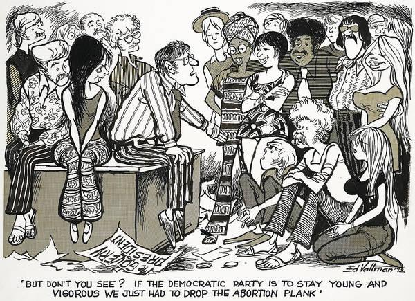 Drawing - Democratic Platform, 1972 by Edmund Valtman