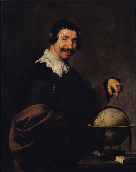 Philosopher Wall Art - Photograph - Democritus, Or The Man With A Globe Oil On Canvas by Diego Rodriguez de Silva y Velazquez