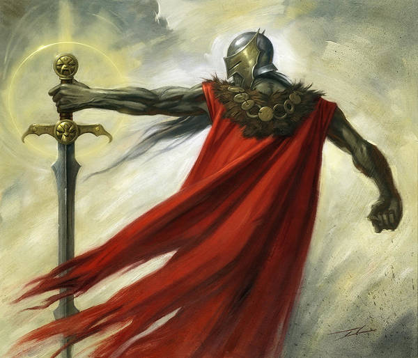 World Of Warcraft Wall Art - Painting - Demon Sword by Alan Lathwell