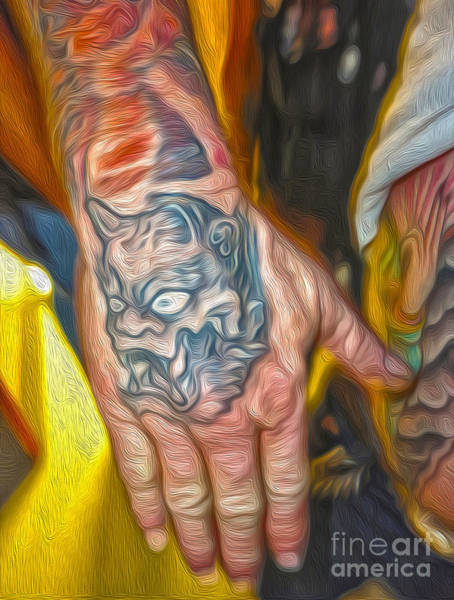 Painting - Demon Tattoo by Gregory Dyer