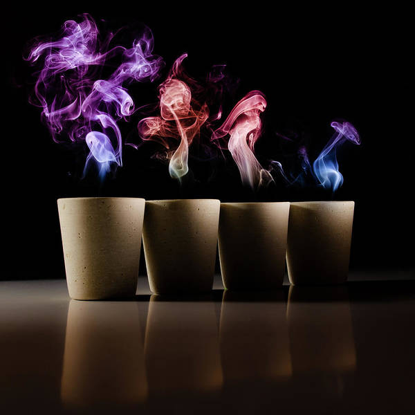 Abstract Smoke Photograph - Demons by Marc Huybrighs