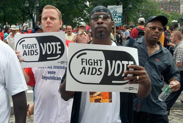 Placard Photograph - Demonstration For Aids Funding by Jim West