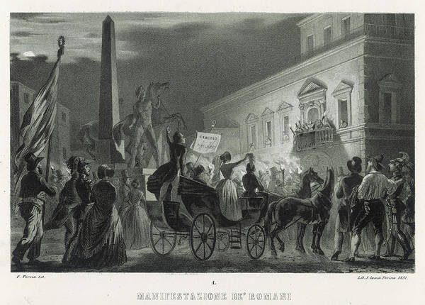 Wall Art - Drawing - Demonstrations In Rome Against  Pope by Mary Evans Picture Library