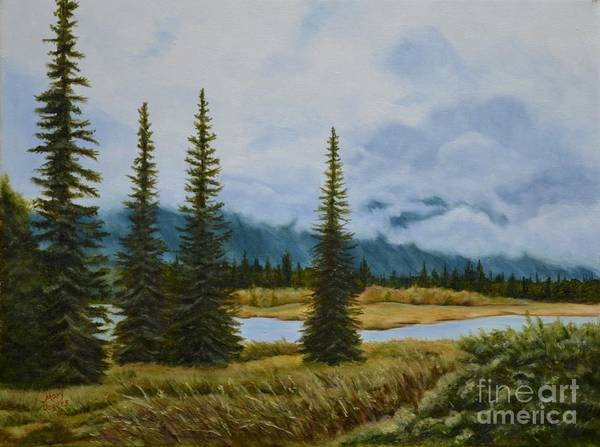 Mary Rogers Painting - Denali Morning by Mary Rogers