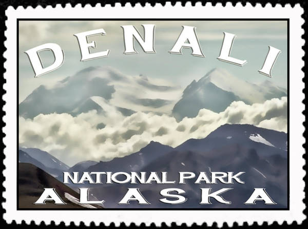 Wall Art - Photograph - Denali Postage Stamp  by Heather Applegate
