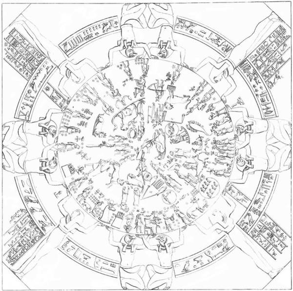 Wall Art - Photograph - Dendera Zodiac by Royal Astronomical Society/science Photo Library