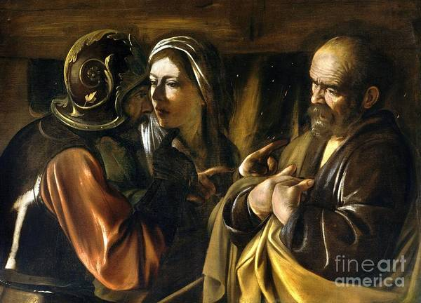 Denial Painting - Denial Of St Peter by Reproduction