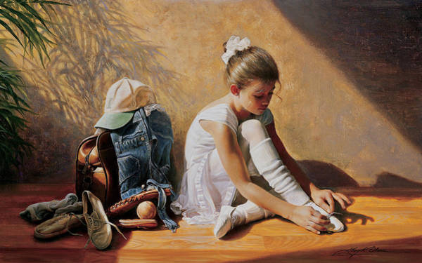Dancing Painting - Denim To Lace by Greg Olsen