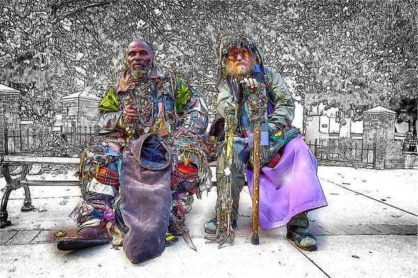 Drum Circle Wall Art - Mixed Media - Denizens by John Haldane