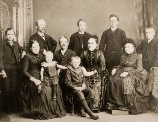 Photograph - Denmark Family, C1886 by Granger