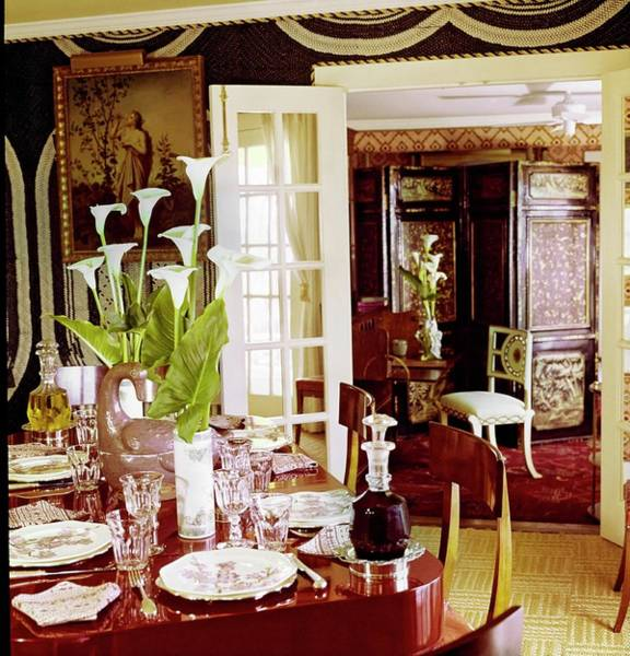 Wall Art - Photograph - Denning And Fourcade's Dining Room by Horst P. Horst