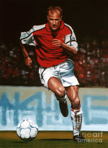 Stadium Painting - Dennis Bergkamp by Paul Meijering