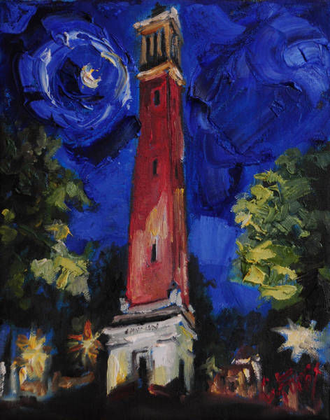 Crimson Wall Art - Painting - Denny Chimes by Carole Foret