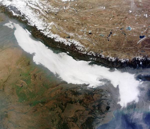 Photograph - Dense Fog Over The Indian Subcontinent by Celestial Images