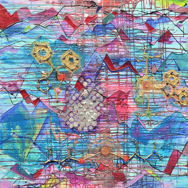 Quantum Physics Painting - Density Of States by Regina Valluzzi