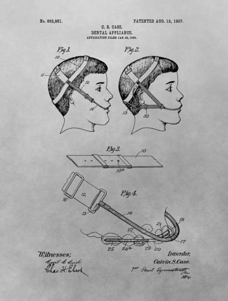 Drawing - Dental Appliance Patent Drawing by Dan Sproul