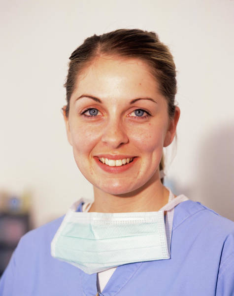 Dentistry Wall Art - Photograph - Dental Assistant by Mark Thomas/science Photo Library