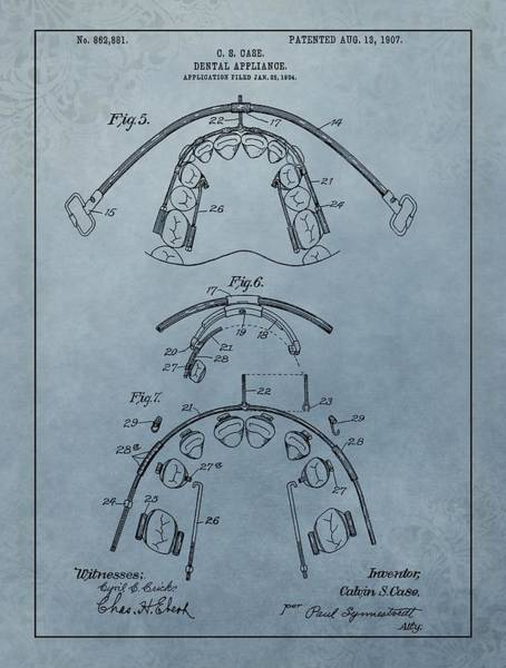 Canine Mixed Media - Dental Braces Patent Design by Dan Sproul