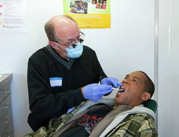 Homeless Photograph - Dental Check-up by Jim West