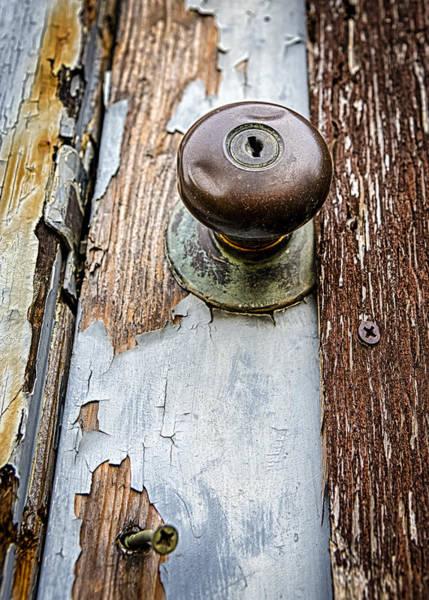 Doorknob Photograph - Dented Doorknob by Caitlyn  Grasso