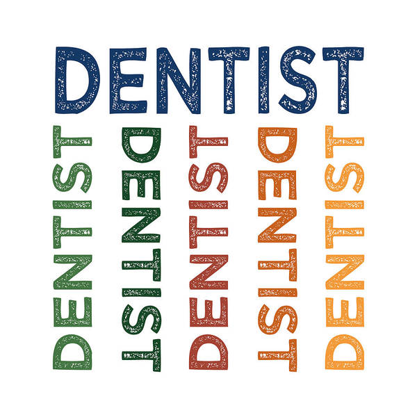 Dentistry Wall Art - Digital Art - Dentist Cute Colorful by Flo Karp