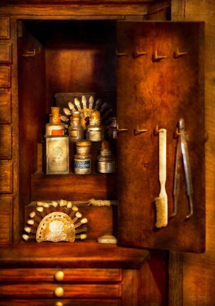 Wall Art - Photograph - Dentist - The Dental Cabinet by Mike Savad
