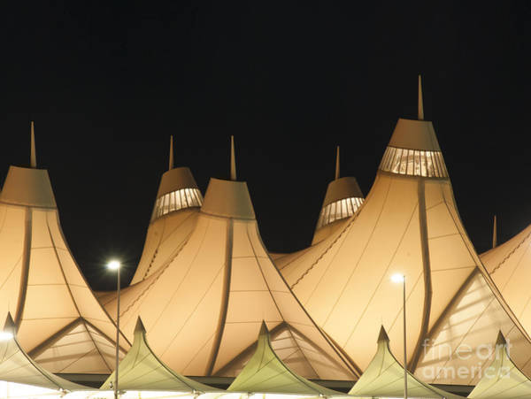 Photograph - Denver Airport At Night by Juli Scalzi