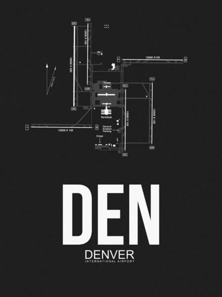Capital Wall Art - Digital Art - Denver Airport Poster 1 by Naxart Studio