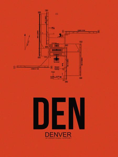 Wall Art - Digital Art - Denver Airport Poster 2 by Naxart Studio