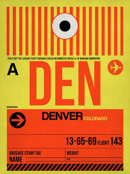 Wall Art - Digital Art - Denver Airport Poster 3 by Naxart Studio